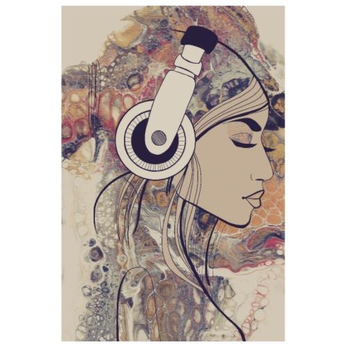 lady auf acryl - Poster 20x30 cm