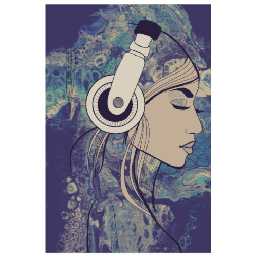 listen to the music - Poster 20x30 cm