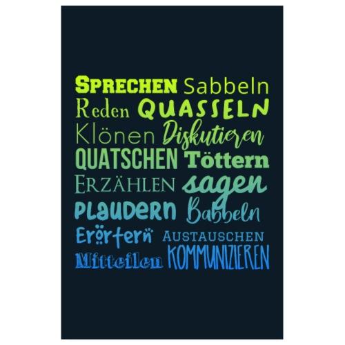 Poster Sprecherei blue shades - Poster 20x30 cm