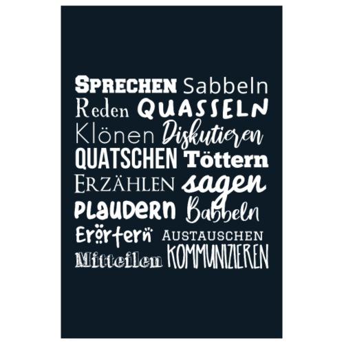 Poster Sprecherei white blue - Poster 20x30 cm
