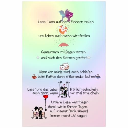 Poster Wandbild Liebe Text - Poster 20x30 cm