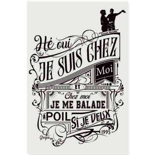 Je me balade à poil - Gazon Maudit - 1995 POSTER - Poster 20 x 30 cm