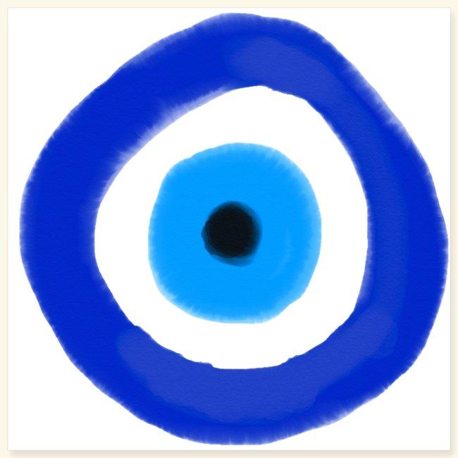 Blue evil eye Water Colour