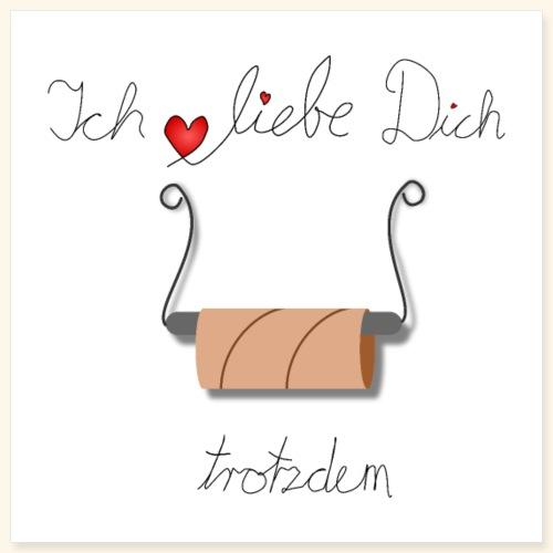 wahre Liebe Poster - Poster 20x20 cm