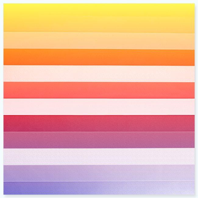 Rainbow Abstract Acrylic Painting