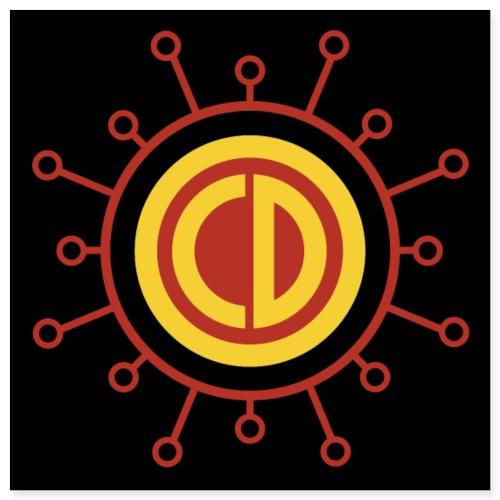 OCD Superhero Logo - Poster 8 x 8 (20x20 cm)