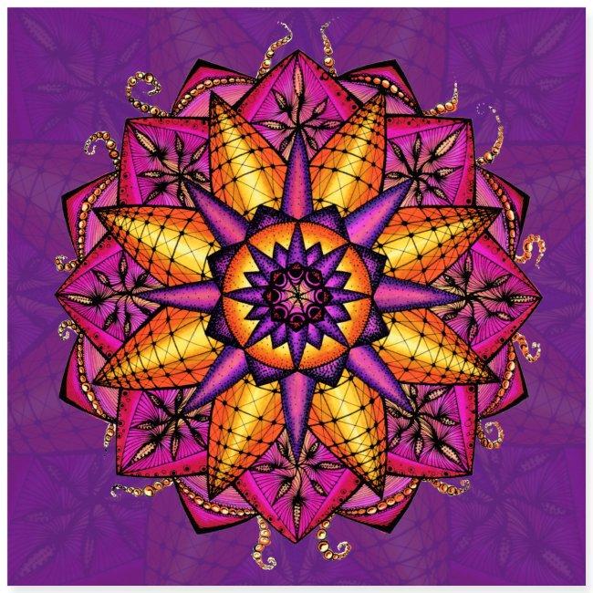 "SoulArt Mandala ""Sternenmatrix"""
