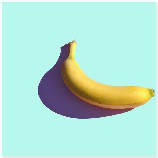 Abstract banana minimalism watercolor