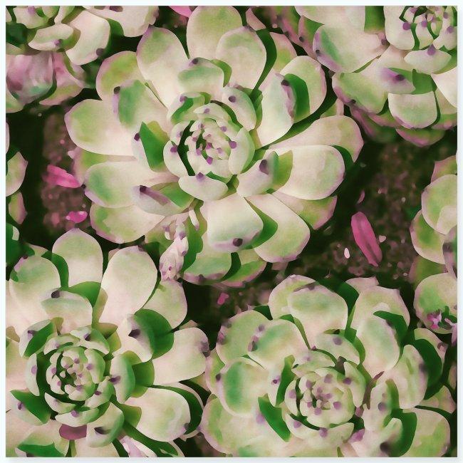 Summer garden plants watercolor nature