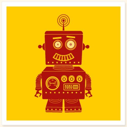 Retro Robot - Poster 16 x 16 (40x40 cm)