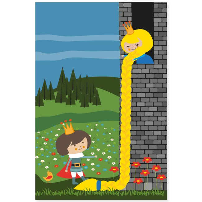 Rapunzel und der Prinz - Märchenposter