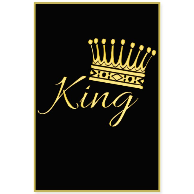 Poster - King couleur or
