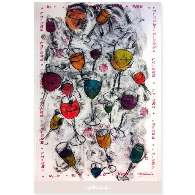 Wine series 1 - 60x90 cm by O.Fouchard