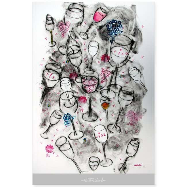 Wine series 9 - 60x90 cm O.Fouchard