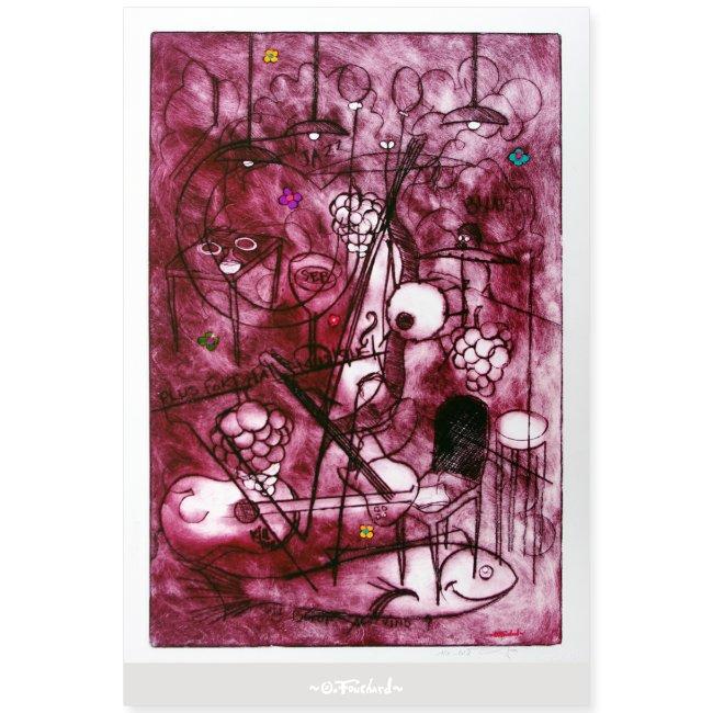 Wine series 10 60x90 cm O Fouchard
