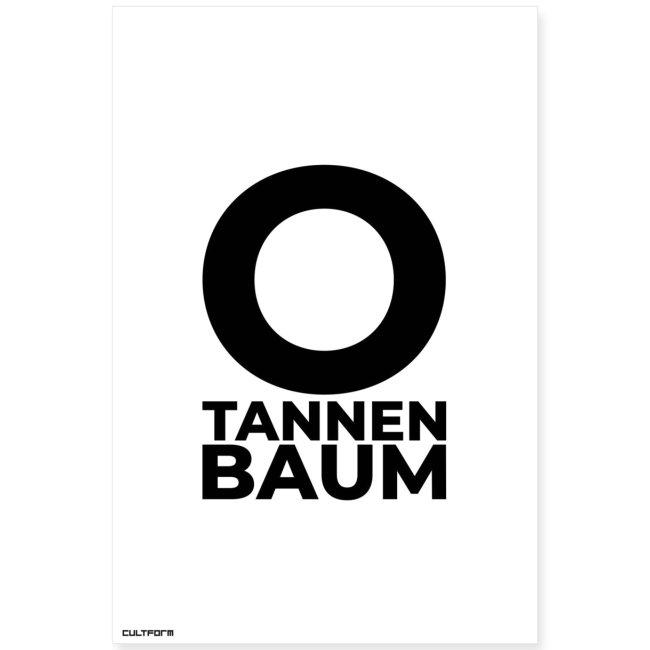 Weihnachtsgrafik O Tannenbaum Typo