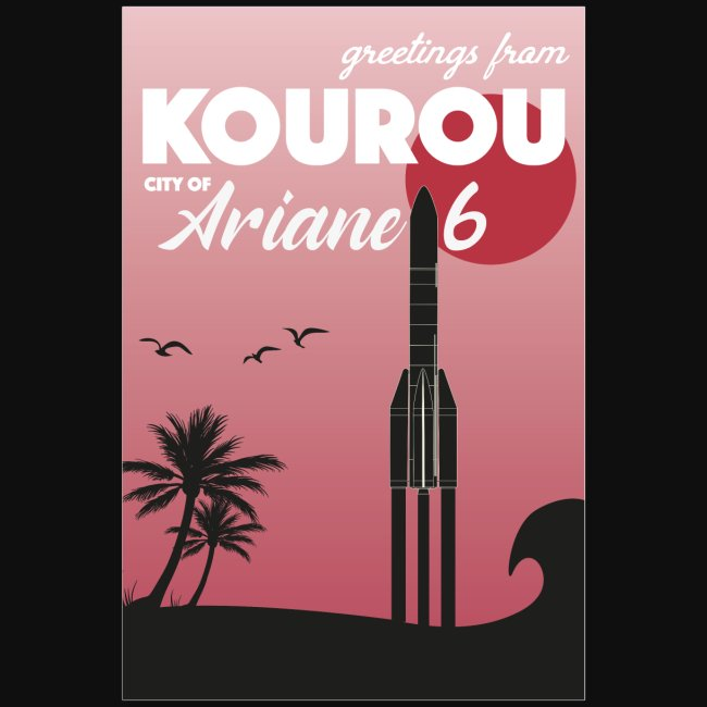 Greetings from Kourou by Felix Design