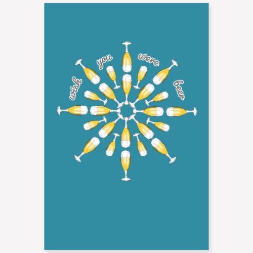 Poster Biertulpen Mandala - Poster 60x90 cm