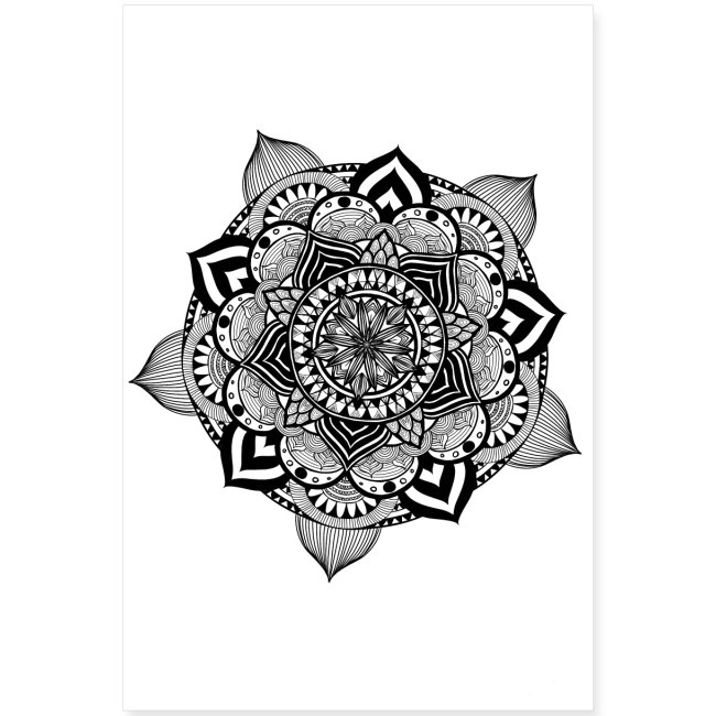Fiori Mandala.Angart Graphics Mandala Fiore Di Loto Poster 60x90 Cm