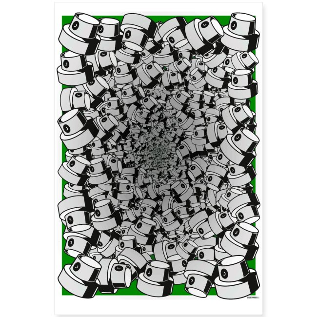 graffiti fat cap infinity flow poster green