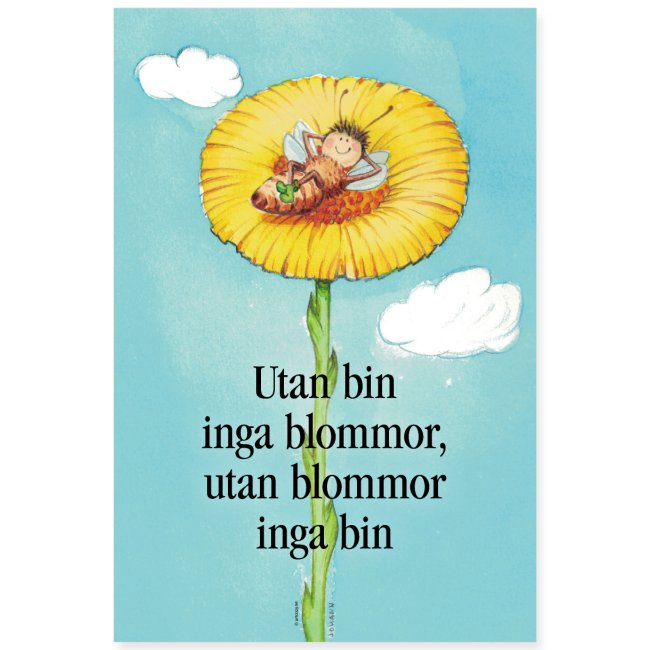 Utan bin inga blommor, utan blommor inga bin