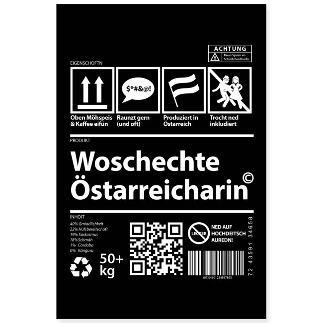 Vorschau: Woschechta Österreicha - Poster 40x60 cm