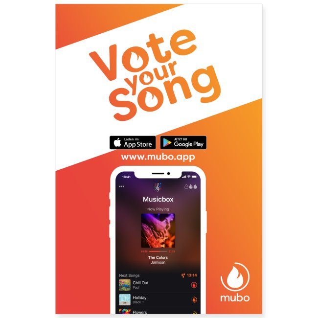 Vote your song poster