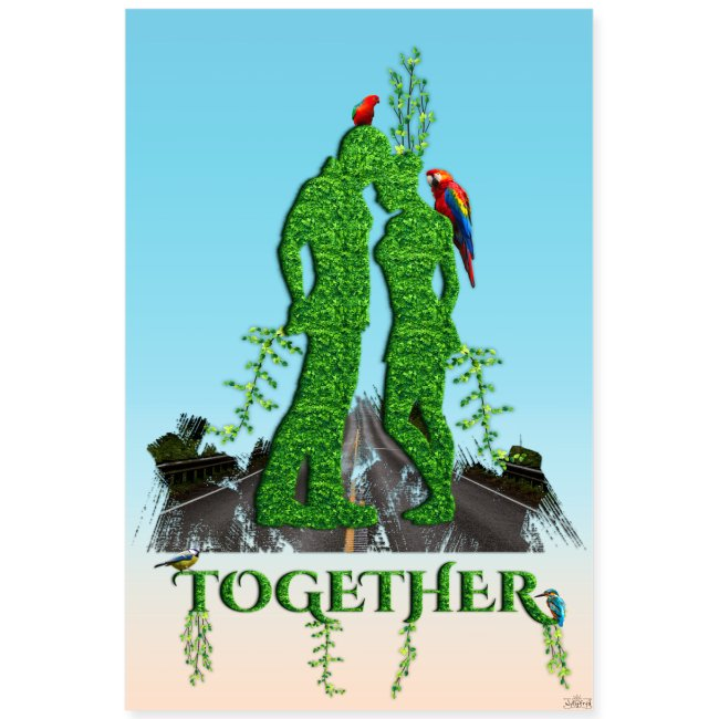 Poster - Together love nature