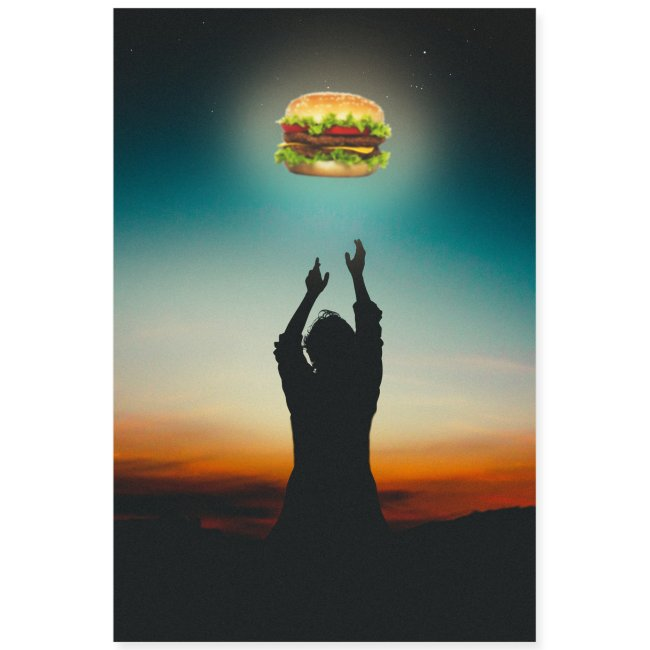 Hamburger in The Sky