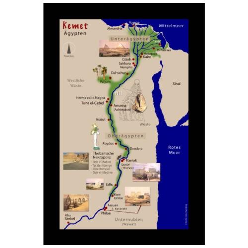 POSTER: Landkarte KEMET (Altes Ägypten) - Poster 40x60 cm