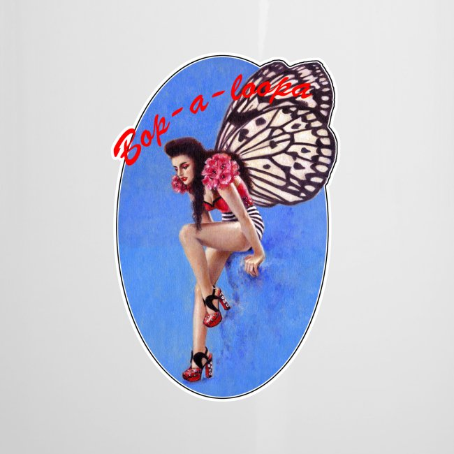Vintage Rockabilly Butterfly Pin-up Design