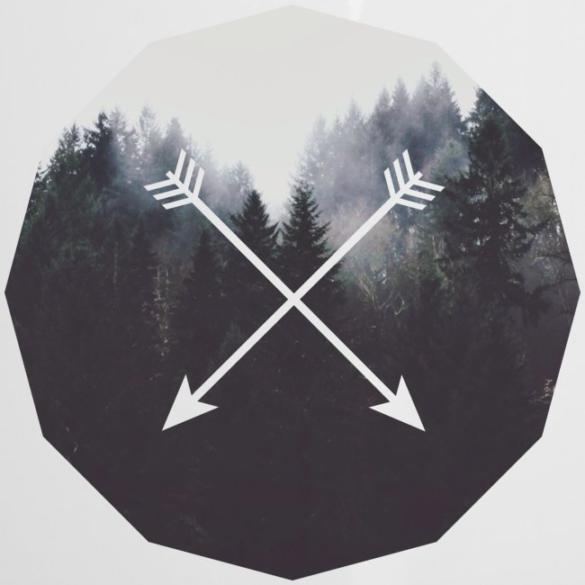 Misty Forest Blended With Crossed Arrows