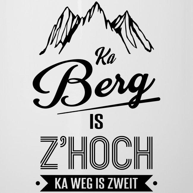 Vorschau: Ka Berg is zhoch - Emaille-Tasse