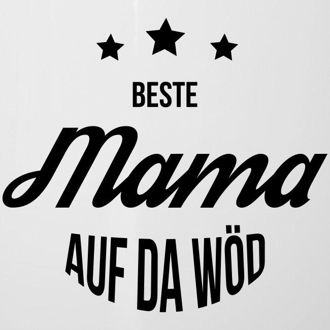 Vorschau: Beste Mama auf da Wöd - Emaille-Tasse