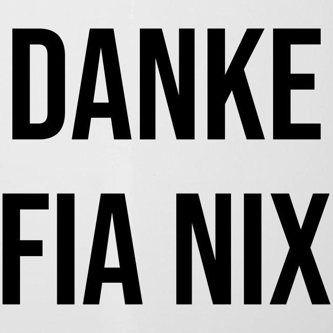 Vorschau: Danke fia nix - Emaille-Tasse