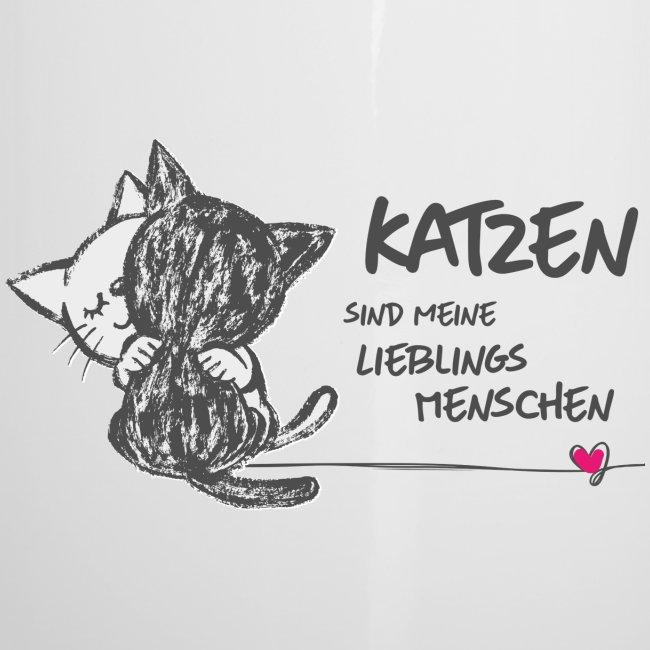 Vorschau: Katzen Lieblingsmenschen - Emaille-Tasse