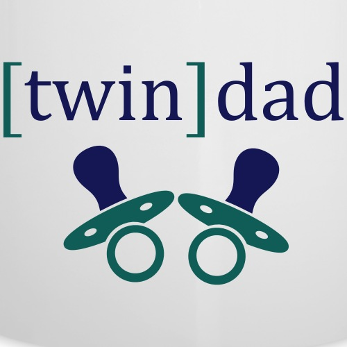 T-Shirt: Twin Dad - Emaille-Tasse