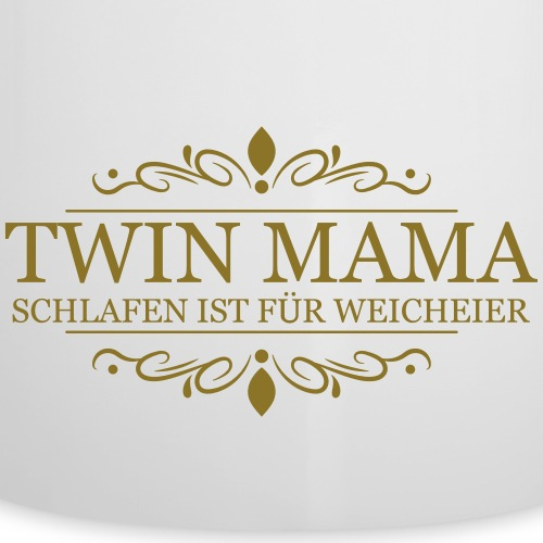 Zwillingsmama - Emaille-Tasse