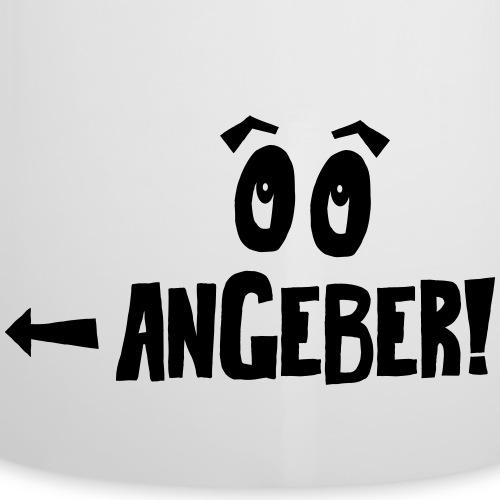 Zwillingsbody Angeber - Emaille-Tasse
