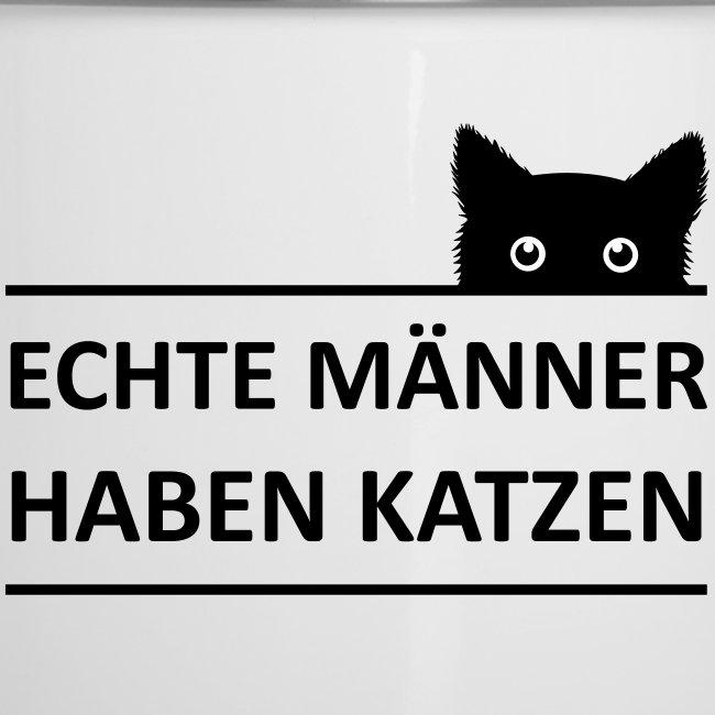 Vorschau: Echte Männer haben Katzen - Emaille-Tasse