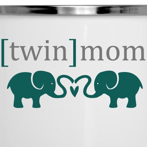 twinmomelefant - Emaille-Tasse