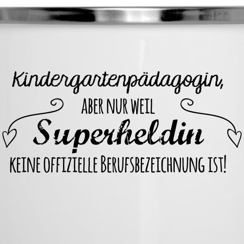 Stoffbeutel: Kindergartenpädagogin - Emaille-Tasse