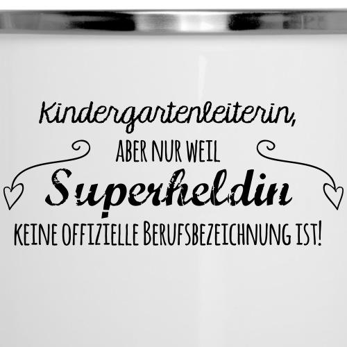 Kaffeetasse: Kindergartenleiterin - Emaille-Tasse