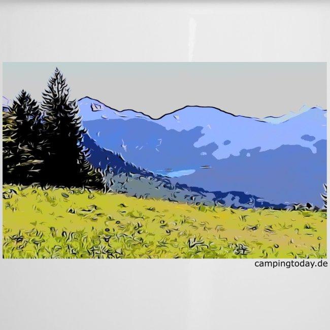 Berge künstlerisch