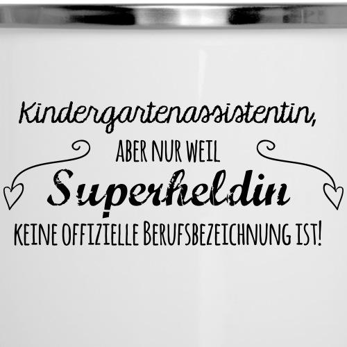 Kaffeetasse: Kindergartenassistentin - Emaille-Tasse