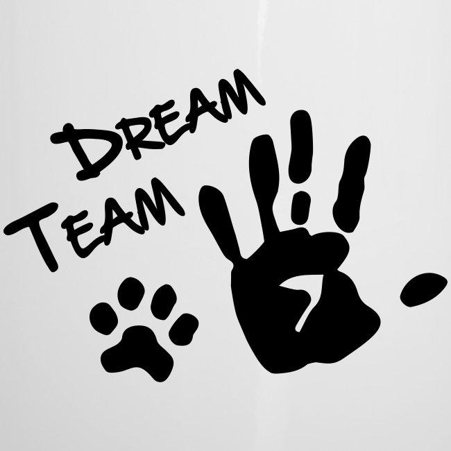 Vorschau: Dream Team Hand Hundpfote - Emaille-Tasse
