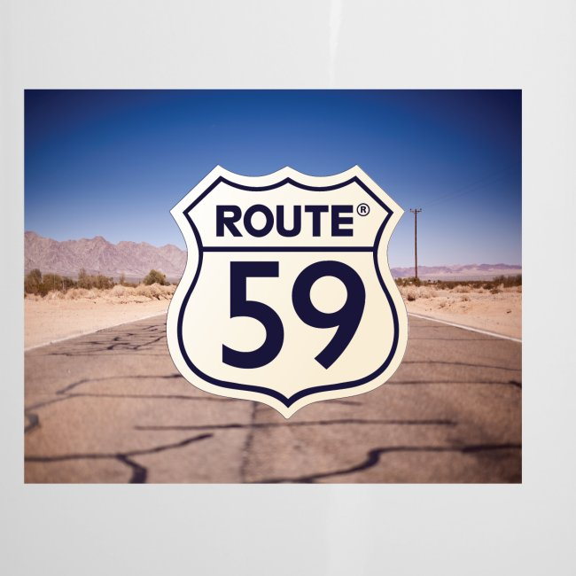 Route 59 met achtergrond