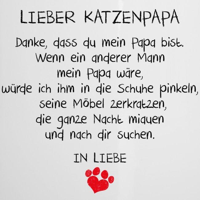 Vorschau: Lieber Katzenpapa - Emaille-Tasse