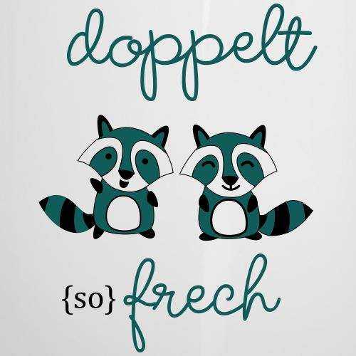 Zwillinge: Doppelt so frech - Emaille-Tasse