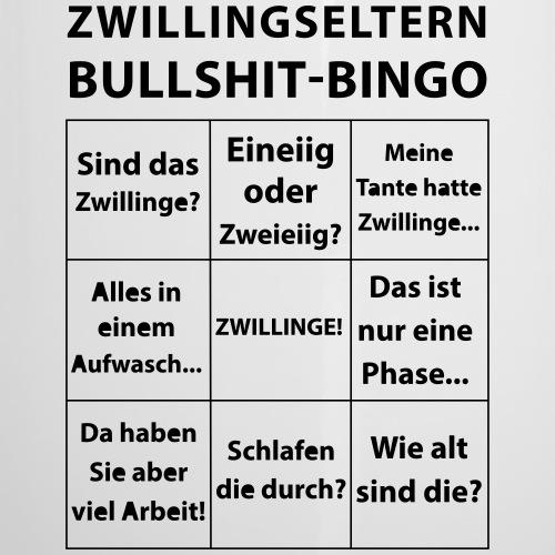 Zwillingseltern Bullshit-Bingo - Emaille-Tasse